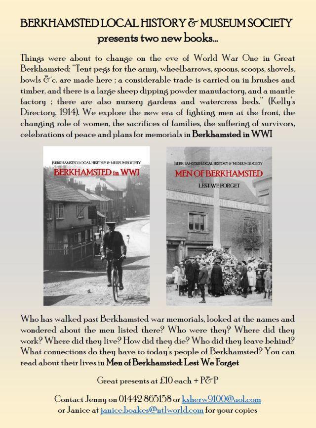 Flyer_WWI books