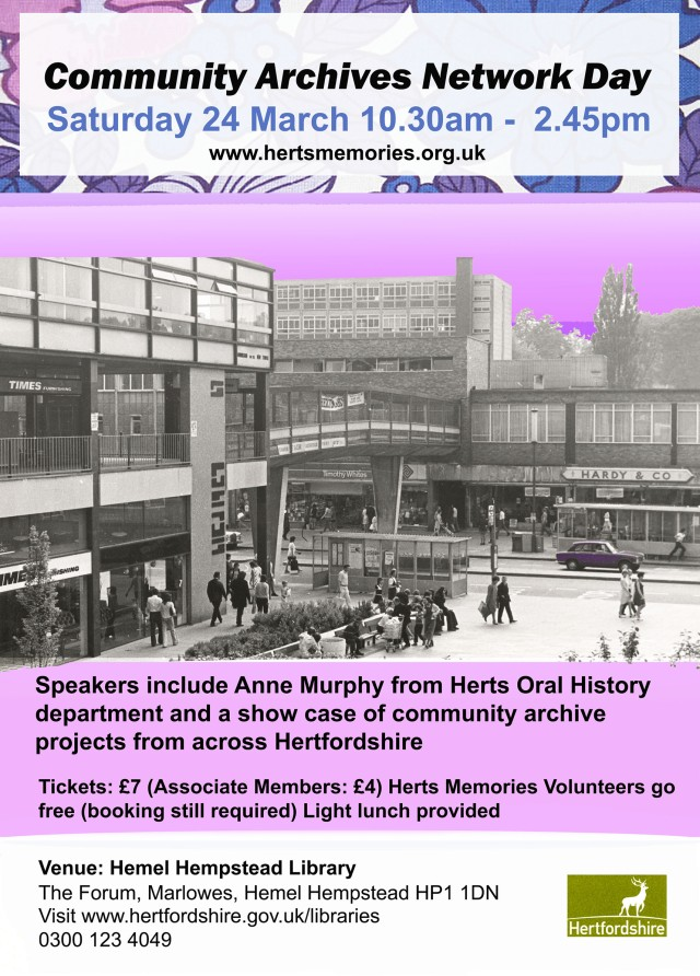 Commmunity Archives Network Day at Hemel