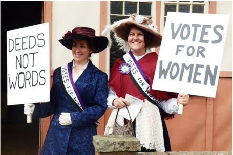 Suffragettes at COAM